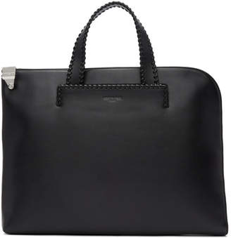 Wooyoungmi Black Leather Briefcase