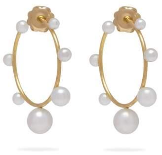 Irene Neuwirth 18kt gold & akoya-pearl hoop earrings
