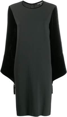 Antonelli velvet sleeved dress