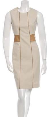 Belstaff Leather-Accented Sleeveless Dress