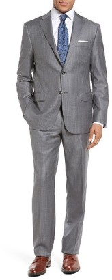Men's Hickey Freeman Classic Fit Stripe Wool Suit $1,595 thestylecure.com