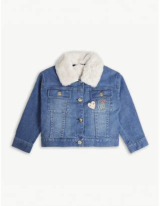 Chloé Faux-fur denim jacket and gilet 4-14 years