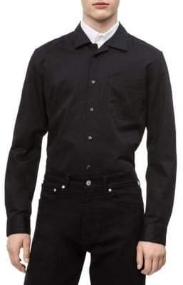 Calvin Klein Jeans Track Long-Sleeve Button-Down Shirt
