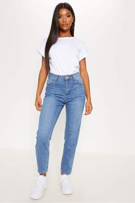PrettyLittleThing Womens Straight Leg Jeans - Blue
