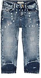 Scotch R'Belle KIDS' TOPSTITCHED DISTRESSED JEANS-BLUE SIZE 10 YRS