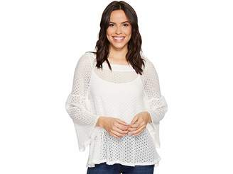 Nally & Millie Bell Sleeve Lace Top Women's Clothing