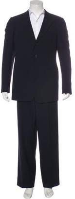 Giorgio Armani Wool & Silk Herringbone Suit