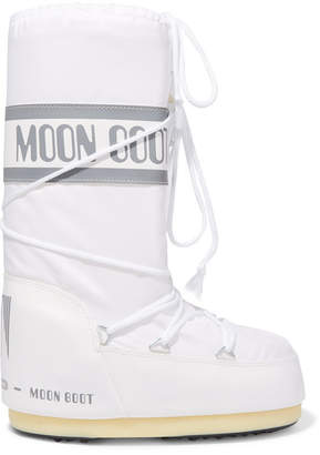 Moon Boot Shell-piqué And Rubber Snow Boots - White