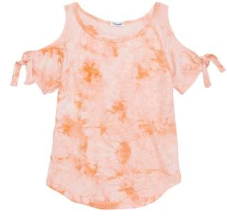 Splendid Tie Dye Cold Shoulder Top