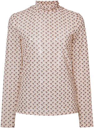 Brock Collection printed turtleneck blouse