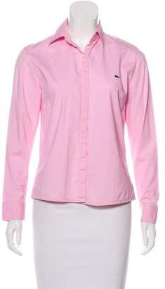 Lacoste Long Sleeve Button-Up Top