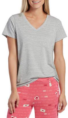 Hue Deck Stripe V-Neck Short-Sleeve Tee