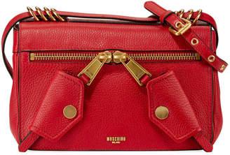 Moschino Pebbled Multi-Pocket Shoulder Bag