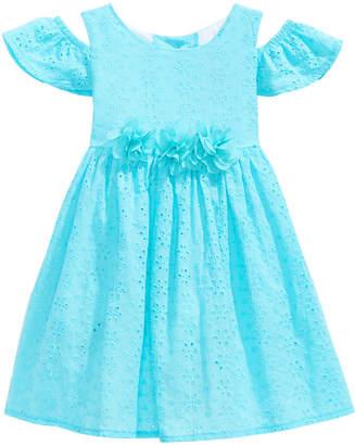 Good Lad Cold Shoulder Eyelet Dress, Little Girls