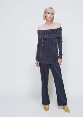 Sies Marjan Daphne Velour Rib Off The Shoulder Sweater