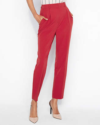 Express Super High Waisted Shirred Ankle Pant