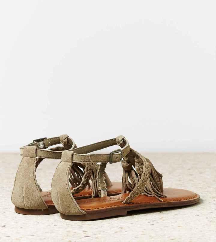 American Eagle AEO Braided Tassel Sandal