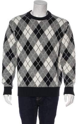 Ami Alexandre Mattiussi Wool-Blend Argyle Sweater w/ Tags