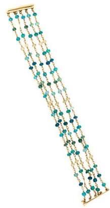 14K Apatite Bead Bracelet