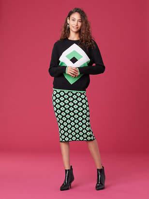 Diane von Furstenberg Cube Crew Neck Sweater