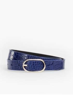 Talbots Reversible Belt - Pebbled Leather/Crocodile Print