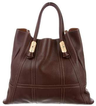Valentino Textured Leather Tote