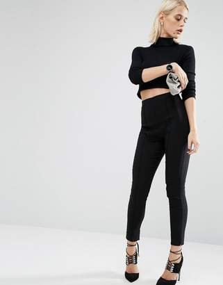 ASOS High Waisted Skinny Crop Pants $34 thestylecure.com