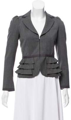 Rebecca Taylor Wool Notched Shawl Blazer