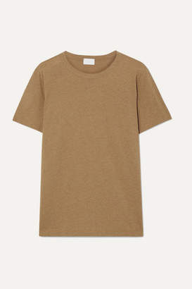 Handvaerk - Pima Cotton And Alpaca-blend T-shirt - Tan