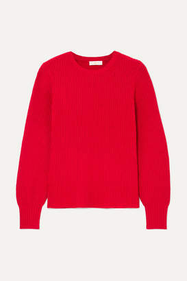 Tory Burch Kennedy Ribbed-knit Sweater - Red