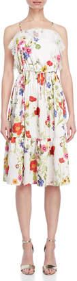 Blugirl Printed Lace Trim Dress