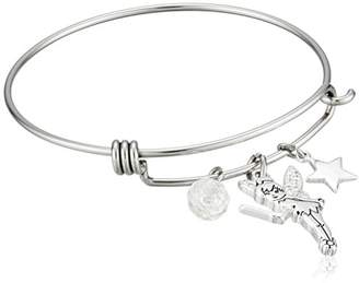 Disney Stainless Steel Catch Bangle with Plated Tinker Bell