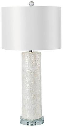 Regina-Andrew Design Scalloped Capiz Column Table Lamp - White - Regina Andrew Design