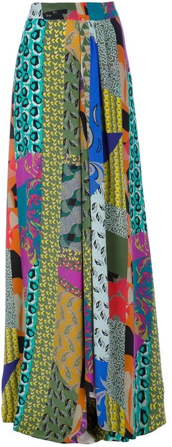 Etro Abstract Maxi Skirt