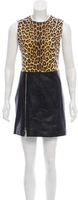 3.1 Phillip Lim Leather Animal Print Dress