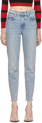 Alexander Wang Blue Cult Zip Jeans