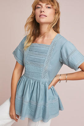 English Factory Cleo Lace-Trimmed Blouse $98 thestylecure.com