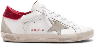 Golden Goose Leather & Velvet Superstar Sneakers