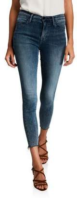 Frame Le High Skinny Raw-Edge Jeans
