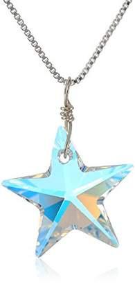 Swarovski Sterling Elements Crystal Aurora Borealis Star Pendant Necklace