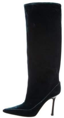 Jimmy Choo Velvet Knee-High Boots