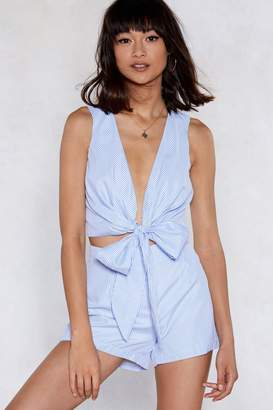 Nasty Gal Bow Place Like Home Top and Shorts Set