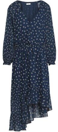 Alithea Asymmetric Floral-Print Silk Crepe De Chine Dress