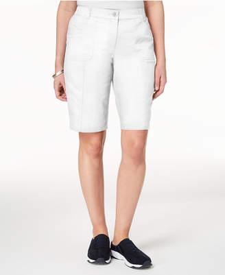 Karen Scott Mid-Rise Cotton Shorts, Created for Macy's