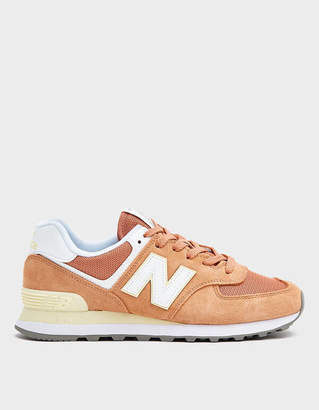 New Balance 574 Sneaker in Orange