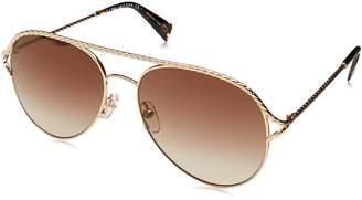 Marc Jacobs Women's Marc168s Aviator Sunglasses, Havana/Brown SS Gold