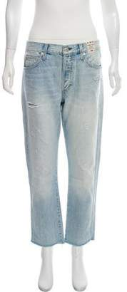 Amo Distressed Mid-Rise Jeans w/ Tags