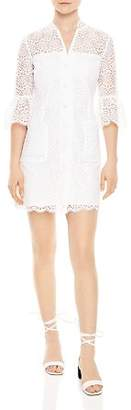 Sandro Miranda Lace Shirt Dress