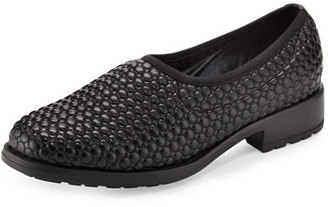 Sesto Meucci Marcy Quilted Leather Slip-On Flat, Black $175 thestylecure.com