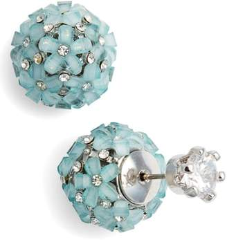 Nina Front to Back Flower Ball Earrings